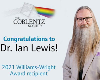 2021 Coblentz Society William Wright award recipient, Dr. Ian Lewis